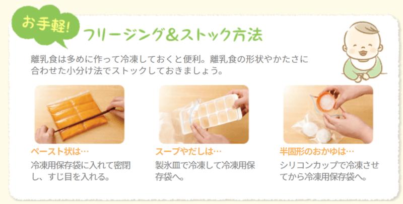 赤ちゃんのご飯のフリージング&ストック方法