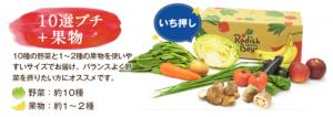らでぃっしゅぼーやの10選プチ+果物